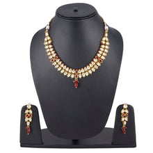 Load image into Gallery viewer, Elegant Bollywood Inspired Ethnic Kundan Necklace with Earrings