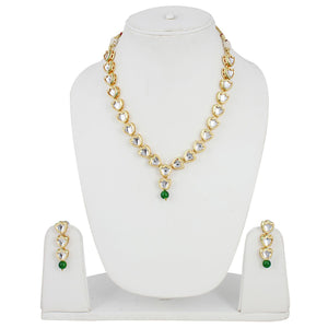 Traditional Jewellery Kundan Necklace Set with Earrings