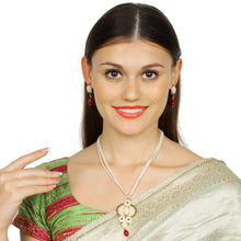 Load image into Gallery viewer, Designer Traditional India Rajasthani Basra Pearl Necklace with Earrings