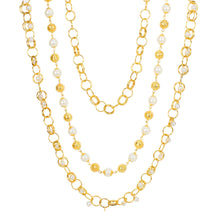 Load image into Gallery viewer, Pearl Mala Multi Layer Daily Wear Gold Plated Chain
