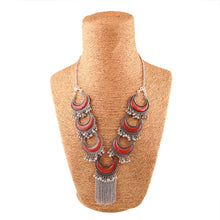 Load image into Gallery viewer, Afghani Tribal Antique Boho Oxidised Silver Necklace