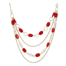 Load image into Gallery viewer, Red Beads Fashion Necklace