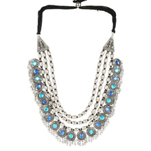 Load image into Gallery viewer, Afghani Designer Turkish Style Vintage Silver Oxidised Necklace
