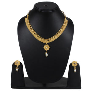 Elegant Bollywood Inspired Traditional Copper Gold Plated Necklace