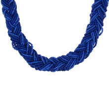 Load image into Gallery viewer, Designer Blue Beads Necklace