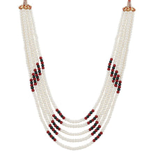 Load image into Gallery viewer, Five Layer Red Color Crystal Beads Necklace