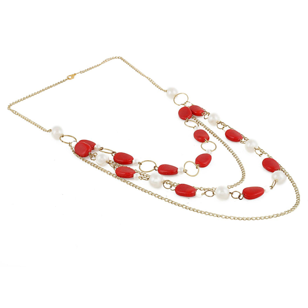 Red Beads Fashion Necklace