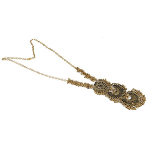 Designer Oxidized German Antique Golden Tibetan Afgani Necklace