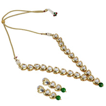 Load image into Gallery viewer, Traditional Jewellery Kundan Necklace Set with Earrings
