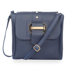 Load image into Gallery viewer, Generic Women's Faux Synthetic Leather Satchel Bag (Blue)