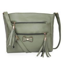 Load image into Gallery viewer, Generic Women's Faux Synthetic Leather Sling Bag (Grey)