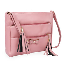 Load image into Gallery viewer, Generic Women's Faux Synthetic Leather Sling Bag (Pink)
