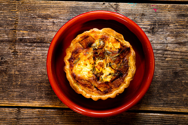 Pumpkin, Feta & Rosemary Quiche (V)