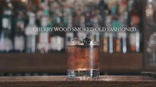 Load and play video in Gallery viewer, *SOLD OUT* CHERRY WOOD SMOKED OLD FASHIONED (500ml, 10 serves)