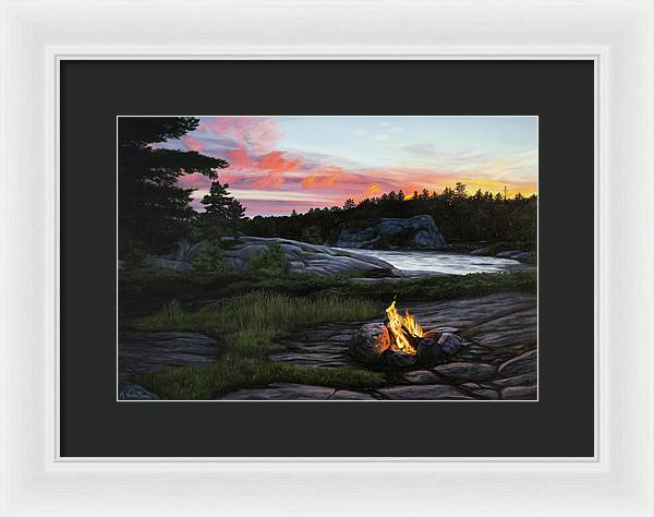 Home for the Night - Framed Print