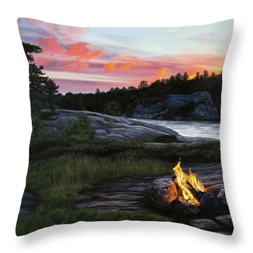 Home for the Night - Throw Pillow