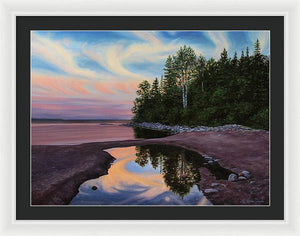 Lake Superior - Rhyolite Cove - Framed Print