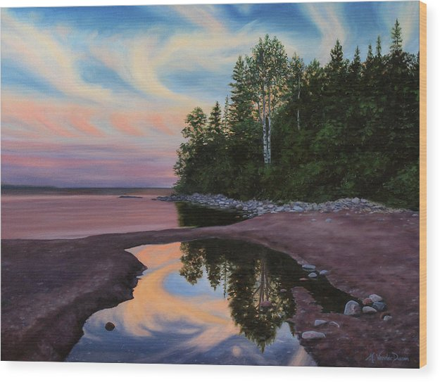 Lake Superior - Rhyolite Cove - Wood Print