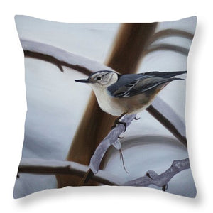 Nuthatch - Throw Pillow