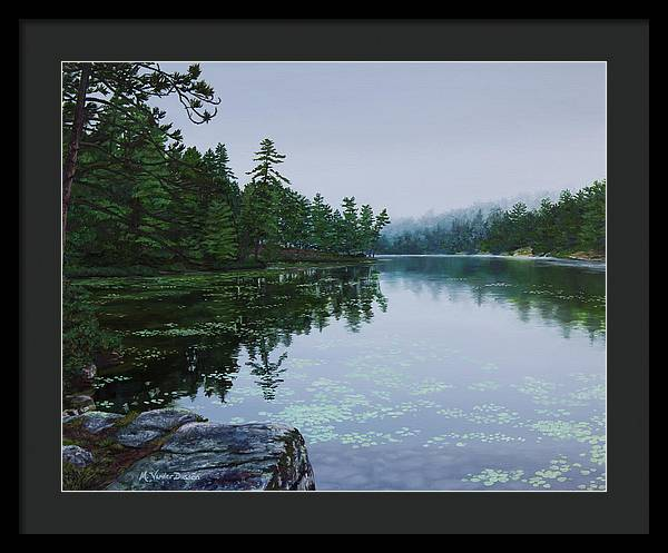 Opalescent Lake - Framed Print