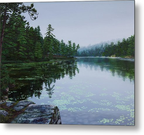 Opalescent Lake - Metal Print
