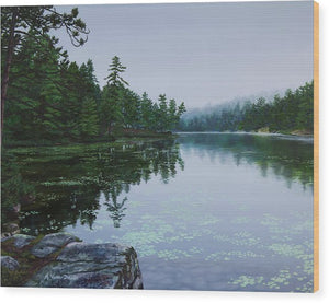 Opalescent Lake - Wood Print
