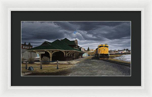 The Town That Silver Built - Framed Print