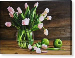 Tulips for Grandpa - Canvas Print