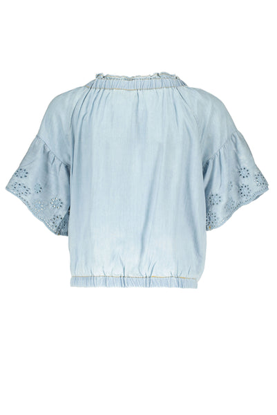 S.C.M. JAMIE LIGHT DENIM BLOUSE (6276893245592)