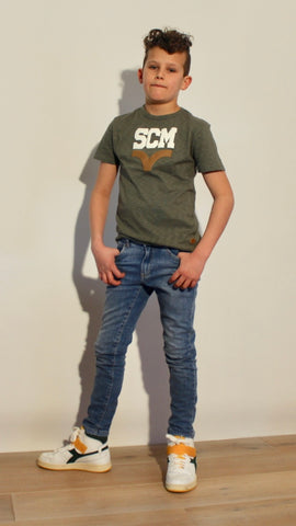 S.C.M. HEY CHARLIE T SHIRT ARMY (6570034004120)