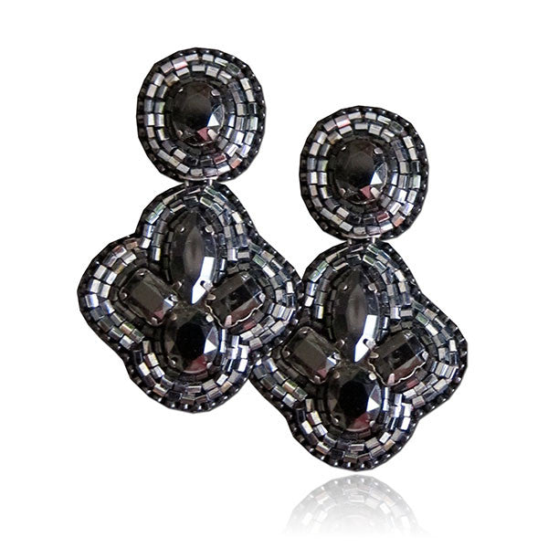 """Belle"" Black Earrings"