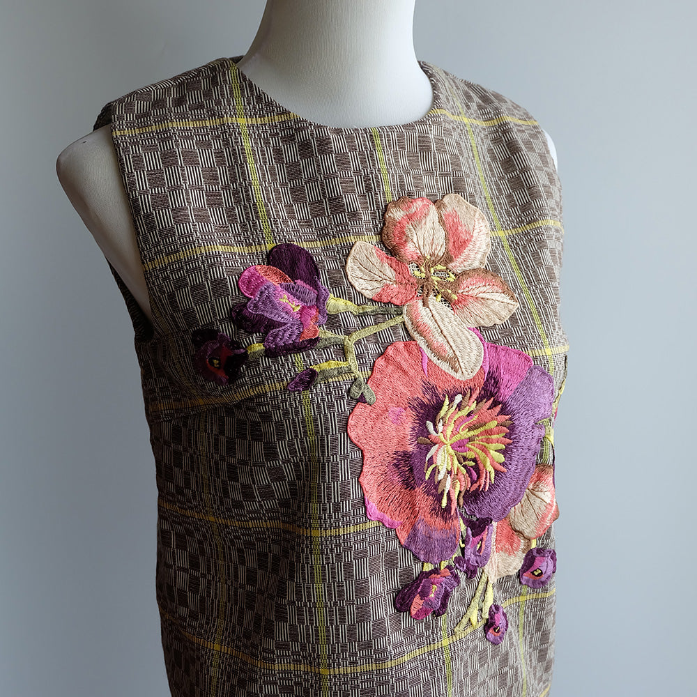 Embroidered Binakol Sleeveless Top - Yellow
