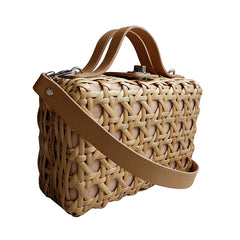 """Jacinta"" Large Natural Rattan Bag"