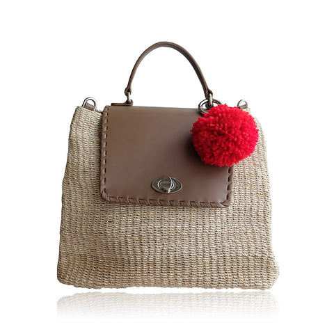 """Kelly"" Natural Abaca Satchel"