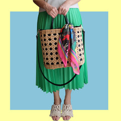 """Rika"" Large Oval Rattan Carryall"