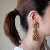 """Penelope"" Gold Beaded Earrings"
