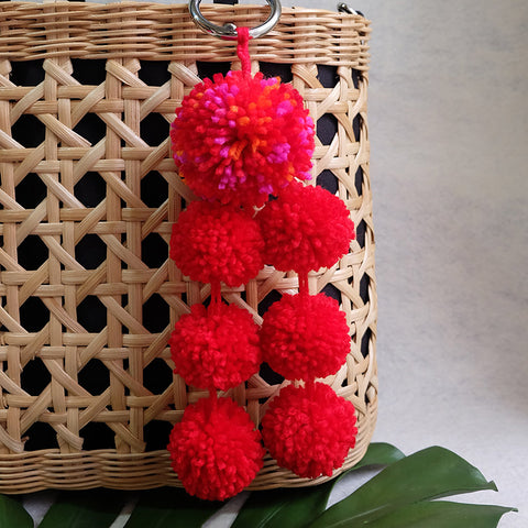 Large Three Layer Pompom Charm