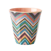 RICE Melamin Becher medium mit Zig-Zag Print