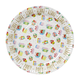 RICE Small Paper Plates in 2 Assorted Birthday Prints