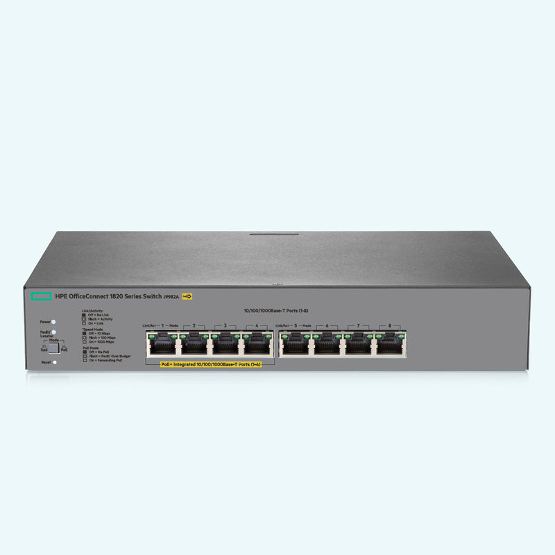 HPE OfficeConnect 1820-8G-PoE+ Switch