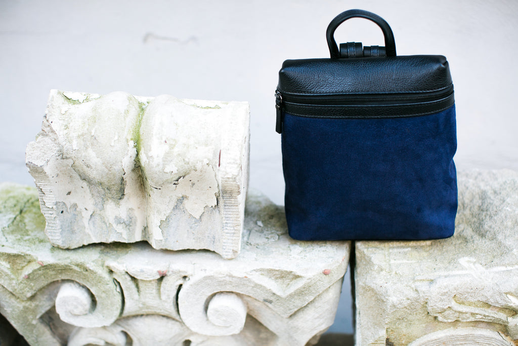 Men's Themis Backpack | Azul Suede
