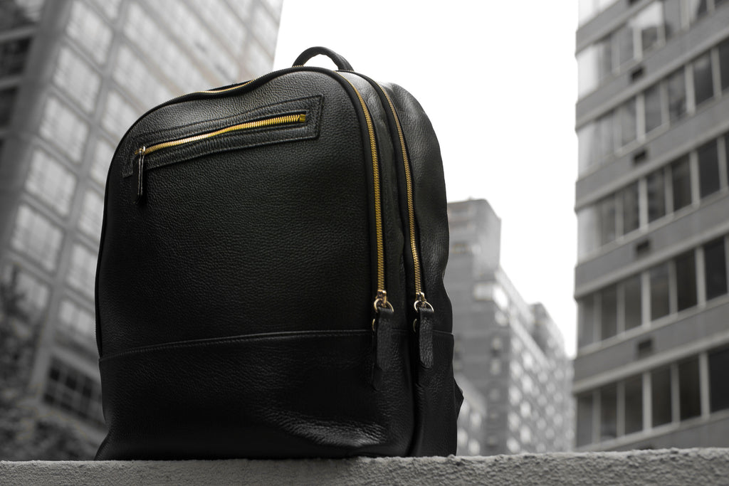 Men's Atlas Backpack | Charcoal Leather