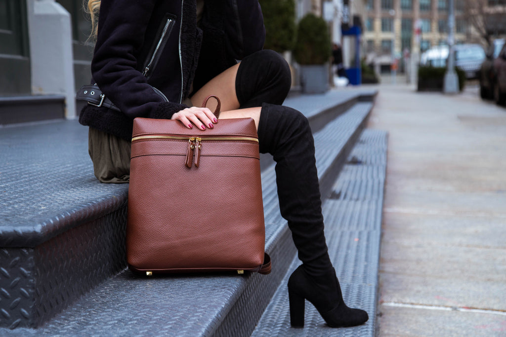 Women's Themis Backpack | Tan Leather