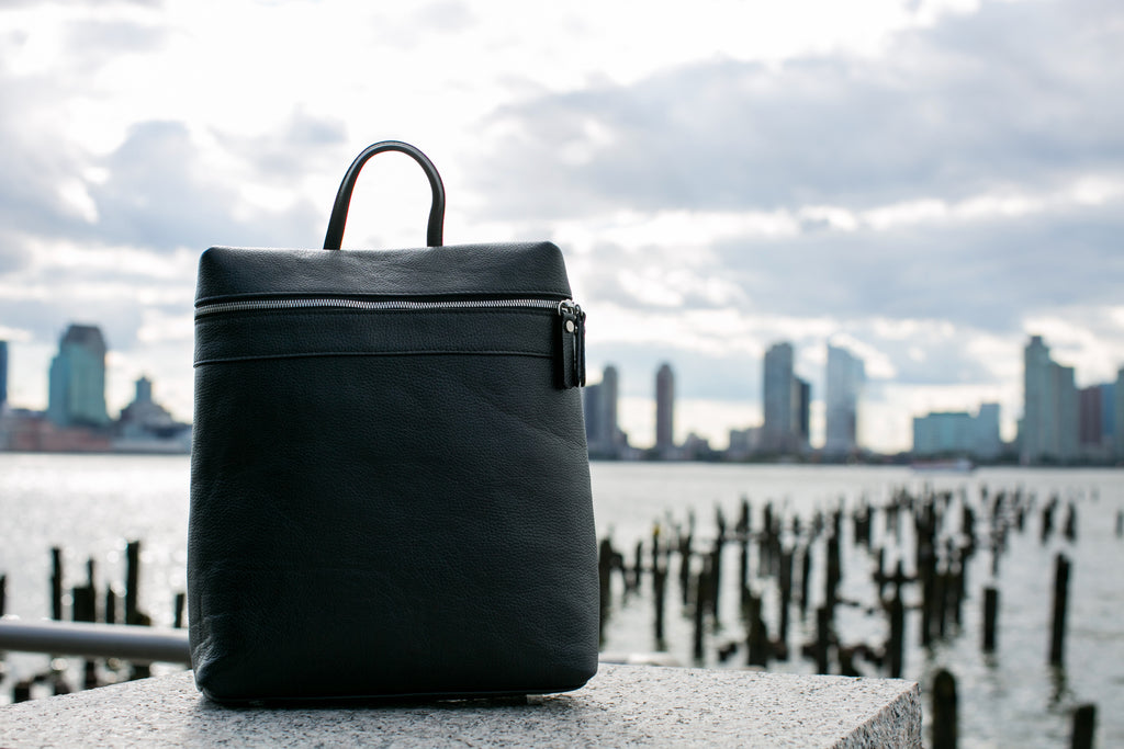 Men's Themis Backpack | Charcoal Leather