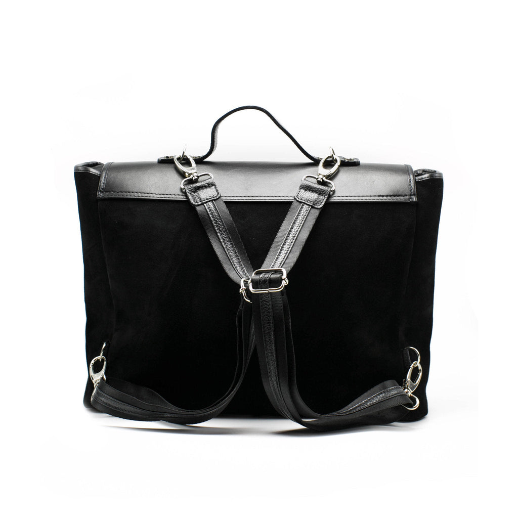 Women's Ermis Briefcase | Charcoal Leather