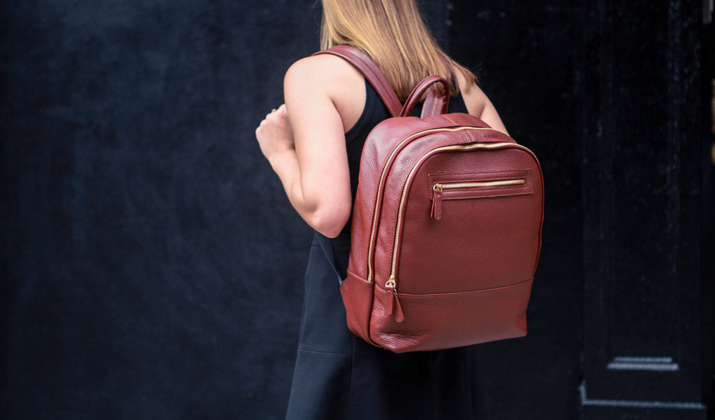 Women's Atlas Backpack | Tan Leather