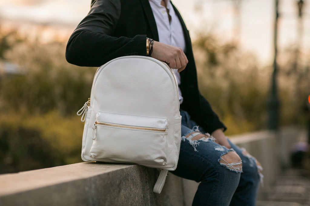 Women's Crown Backpack |Alabaster Leather