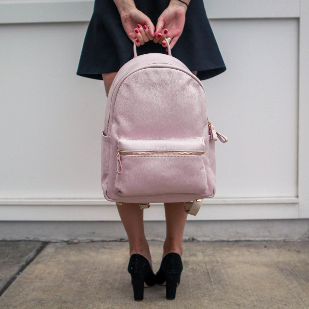 Women's Crown Backpack | Blush Leather