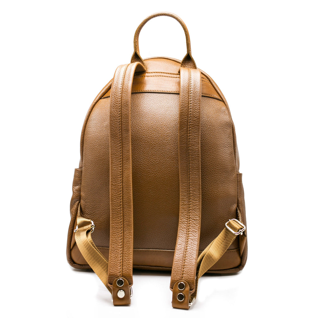 Women's Crown Backpack | Tan Leather