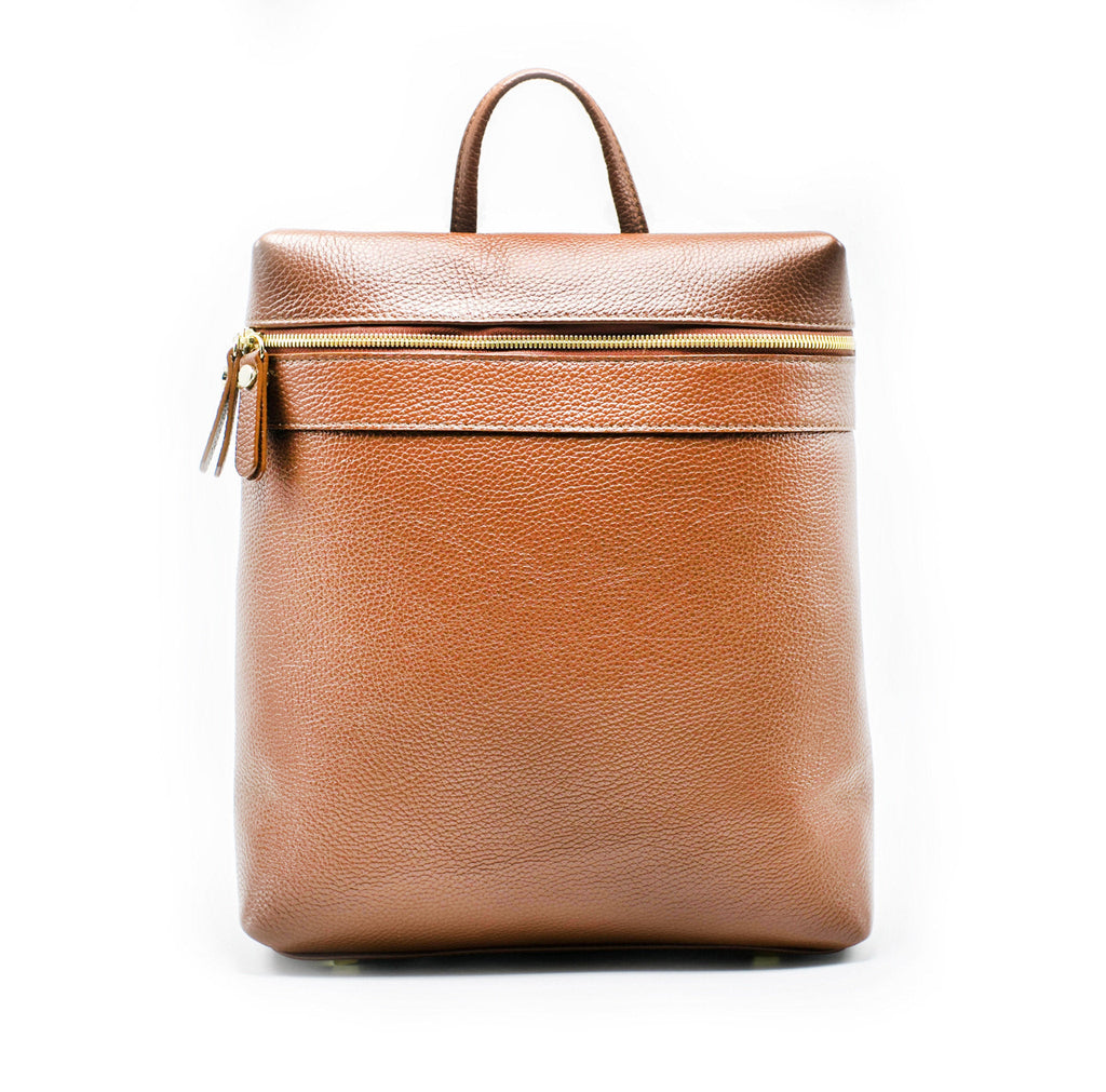Men's Themis Backpack | Tan Leather